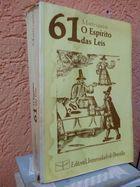 Livro o Espírito das Leis Autor Monesquieu (1982) [usado]