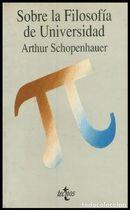 Livro sobre La Filosofía de Universidad Autor Arthur Schopenhauer (1991) [usado]