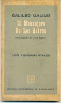 Livro El Mensajero de Los Astros Autor Galileo Galilei (1964) [usado]