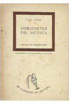 Livro Horizontes de Música Autor Luiz Cosme (1947) [usado]