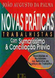 Livro Novas Práticas Trabalhistas Autor João Augusto da Palma (2000) [usado]