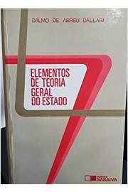Livro Elementos de Teoria Geral do Estado Autor Dalmo de Abreu Dallari (1995) [usado]