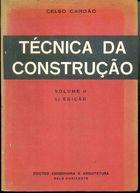 Livro Técnica da Construção - Volume 2 Autor Celso Cordão (1981) [usado]