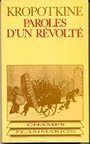 Livro Paroles Dun Révolte Autor Pierre Kropotkine (1978) [usado]