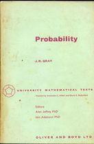 Livro Probability Autor J. R. Gray (1967) [usado]