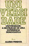 Livro Universidade Autor Aluísio Pimenta (1984) [usado]
