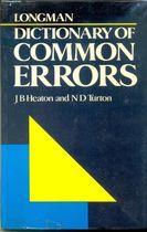 Livro Longman Dictionary Of Common Errors Autor J. B. Heaton, N. D. Turton (1989) [usado]