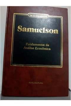 Livro os Economistas: Samuelson: Fundamentos da Análise Econômica Autor Samuelson (1983) [usado]