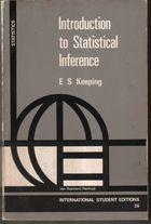 Livro Introduction To Statistical Inference Autor E. S. Keeping (1962) [usado]