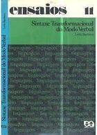 Livro Sintaxe Transformacional do Modo Verbal Autor Leila Barbara (1975) [usado]