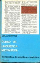 Livro Curso de Linguistica Matemática Autor Geraldo Mattos (1977) [usado]