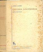Livro Estudos Linguísticos Autor Amado Alonso (1951) [usado]