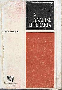 Livro a Análise Literária Autor F. Costa Marques (1972) [usado]