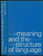 Livro Meaning And The Structure Of Language Autor Wallace L. Chafe (1970) [usado]
