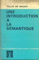 Livro Une Introduction a La Semantique Autor Tullio de Mauro (1969) [usado]
