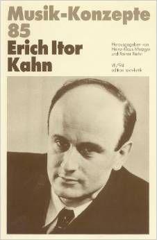 Livro Erich Itor Kahn Autor Musik-konzepte 85 (1994) [usado]