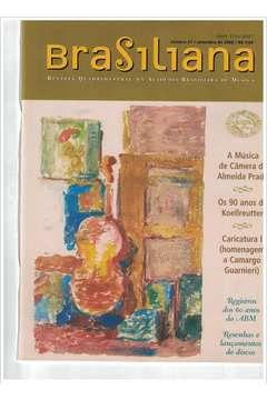 Livro Revista Brasiliana - N° 21 - Ano 2005 Autor Academia Brasileira de Música [usado]