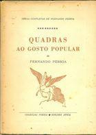 Livro Quadras ao Gosto Popular Autor Fernando Pessoa (1965) [usado]