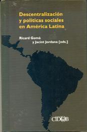 Livro Descentralización Y Políticas Sociales En América Latina Autor Ricard Gomà Y Jacint Jordana ( Eds. ) (2004) [usado]