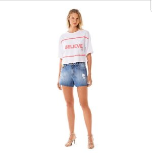Shorts Five Pockets Morena Rosa