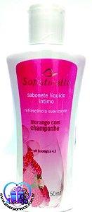 Sabonete Líquido Intimo Morango com Champanhe