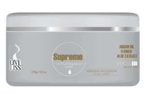Máscara Matizadora Roxa Supreme Platinum Hair OnyLiss 250 g - roxa