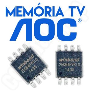 Memoria Flash Tv Aoc Le32d1352 Tela Tpvision Chip Gravado