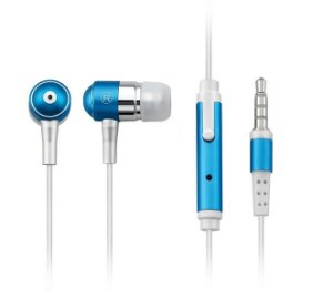 Fone Auricular Com Microfone Azul P2 - Ph060