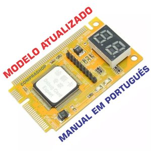 Placa Diagnósticos Pc Analyser Debug Card Pci Teste Notebook