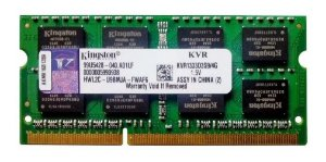 Memória Ram 4gb Ddr3 Pc-10600 1333mhz 1.5v Kingston Notebook