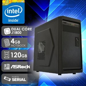 PC DESKTOP D1800 241R INTEL DUAL CORE 4GB RAM SSD 120GB PORTA SERIAL