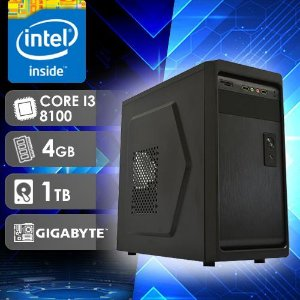 Computador Desktop NFX PC I3 8100 - 241TG / HD 1TB / 4GB RAM / MB GIGABYTE