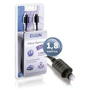 Cabo de Fibra Óptica Elgin 1,8M Áudio Toslink - 46RCFIBRA000