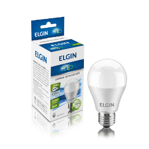 Lâmpada LED Bulbo Elgin E27 10W A60 Branco Frio 6500K Bi