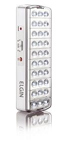 Luminária de Emergência Elgin 30 LEDs 2W c/ Botão de Teste