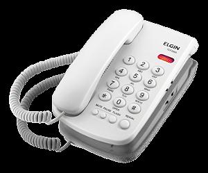 Telefone Elgin c/ fioTCF2000 Aviso lum. e bloqueio