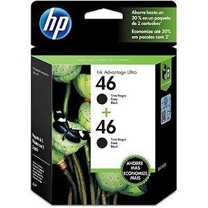 Cartucho HP 46 preto (pack c/2un) M0H61AL HP CX 1 UN