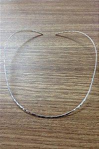Gargantilha Dura Oval - Prata de Lei 925