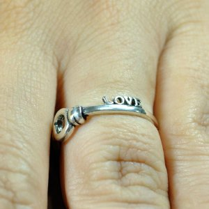 Anel Inspired Life Chave Love - Prata de Lei 925