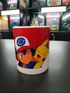 Caneca Ash e Pikachu