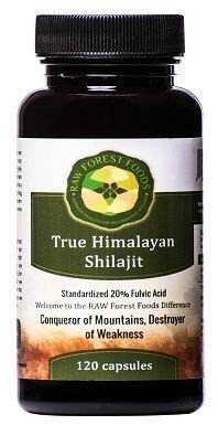 Himalayan Shilajit Extract (20% Ácido Fulvico), Raw Forest Foods - 120 Capsulas