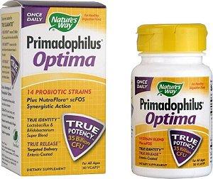 Primadophilus Optima, Nature's Way - 35 bilhões de cepas, 30 VCaps