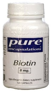 Biotina, Pure Encapsulations, 8 mg - 120 VCaps