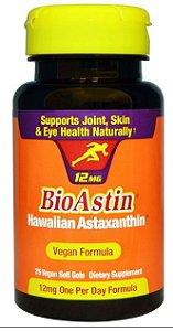 Astaxantina Hawaiana BioAstin, Nutrex, 12mg, 75 Vegan Soft Gels