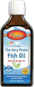 Omega 3 Infantil, Carlson Labs, Sabor Natural Limão, oz 6,7 fl (200 ml)