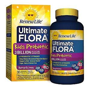 Probiótico Infantil, Ultimate Flora Kids Probiotic 3 Bilhões de Lactobacillos vivos
