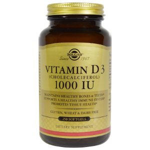 Vitamina D3,  Solgar, 1.000 IU - 250 Softgels