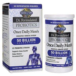 Once Daily's Men's(um por dia), Garden of Life, Dr. Formulated Probiotics, 30 Veggie Caps