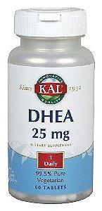 DHEA 99,5% puro, KAL, 25 mg, 60 comprimidos