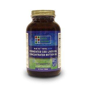 Manteiga X-Factor BLUE ICE ROYAL / Óleo de Fígado de Bacalhau Fermentado, GREEN PASTURE - 240ml